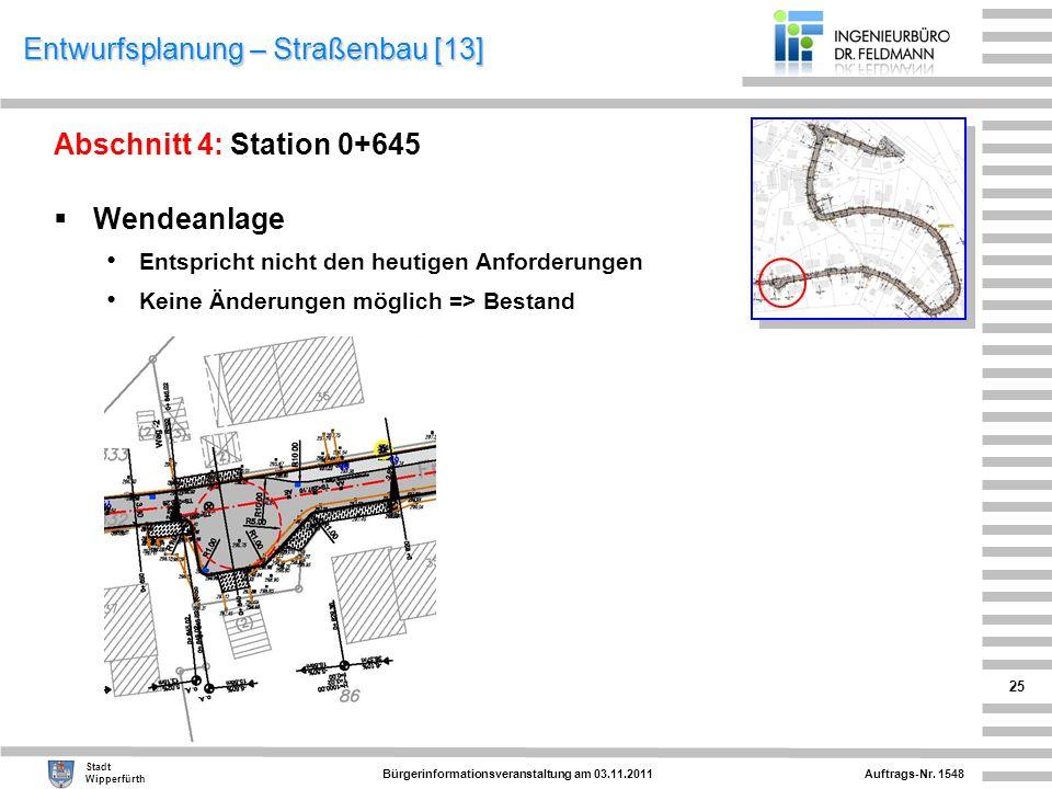 Entwurfsplanung – Straßenbau [13]